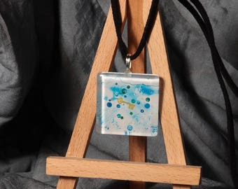 KEY bubble / pendant original painting