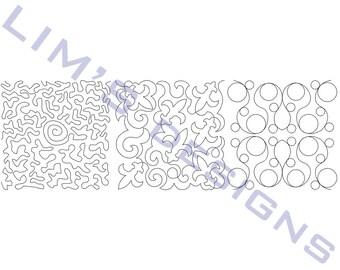 "Three Quilt Patterns N32 machine embroidery designs - 3 sizes 4x4"", 5x5"", 6x6"""