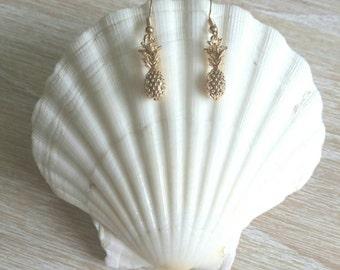 SALE !! Island Pineapple Drop Earrings