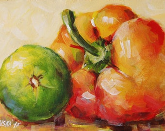 Still life with vegetables, original painting