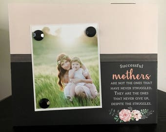 Successful Mothers V1 - Magnetic Picture Frame Handmade Gift Present Home Decor by Frame A Memory Size 9 x 11 Holds 5 x 7 Photo