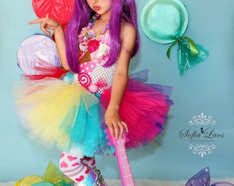 sc 1 st  Etsy & Katy Perry inspired Candy land tutu dress and costume