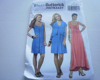 Pattern Ladies Dress and Jacket Sizes 6 to 14 Butterick 5643