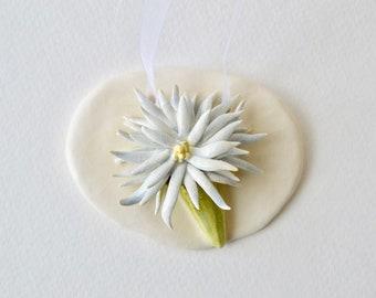 Chrysanthemum Ceramic Tile Plaque~Chrysanthemum Art~Chrysanthemum Flower~Ceramic Flower Tile~Ceramic Flower Plaque~Ceramic Flower Wall Art~B