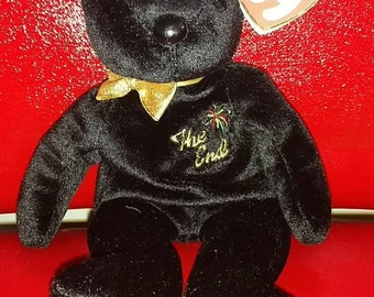 """RARE """"The End"""" Beanie Baby with tag errors"""