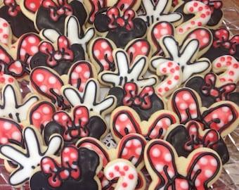 2 dozen Minnie Mouse cookie assortment