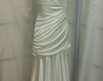Vintage 80s white evening gown Grecian gown wedding gown B Darling gown womens gowns vintage clothing womens clothing size 11/12