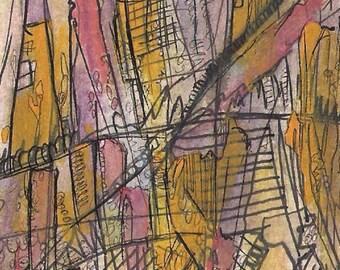 No. 1006I ACEO Art Cards Editions & Originals Fantasy Landscape by NoRaHzArT