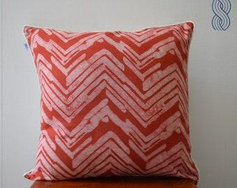 Chevron Print Cotton Cushion Cover