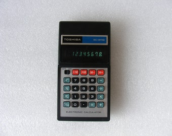 RARE Vintage  Toshiba BC-8111B Electronic Calculator WORKS!