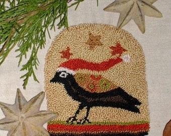 Santa CAWs - primitive needle punch pattern from Notforgotten Farm - Etsy Folk