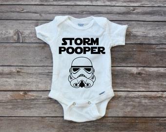 Stormtrooper Storm Trooper Pooper Onesie, Baby Boy Clothes Baby, Clone Trooper Clothes