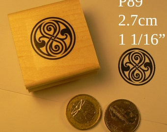 P89 Time lord symbol, Dr. Who rubber stamp