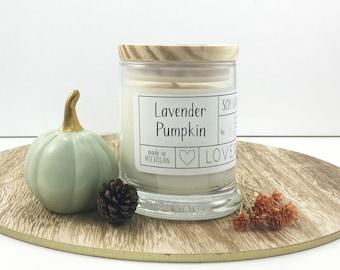Lavender Pumpkin Soy Candle