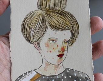 Hidden Place Original Egg Tempera painting on paper