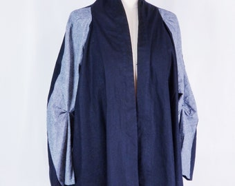 jacket/ cotton/ linen/ long sleeves/ black/ gray/
