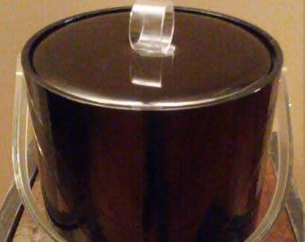 Ice Bucket vintage patent leather( black)