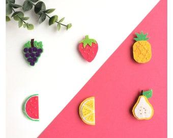 Pine felt Tutti Frutti (6 designs to choose from)