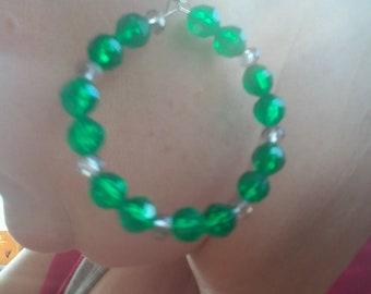 Bright Green Hoops