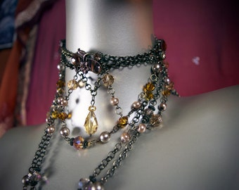 Amber & Brass Necklace