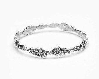 "Spoon Bangle Bracelet: ""Abigail"" by Silver Spoon Jewelry"