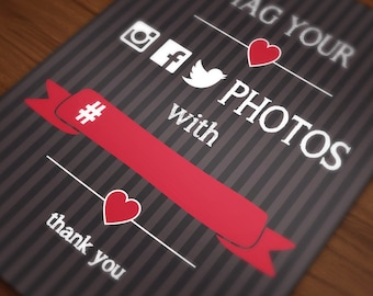 DIY - Printable Event hashtag posters (Download, Customize & Print)
