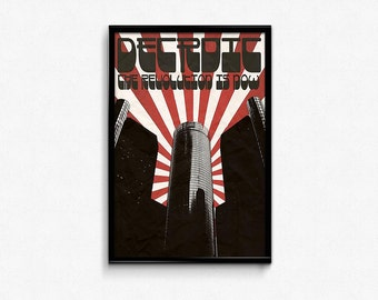 The Revolution is Now - Detroit Poster