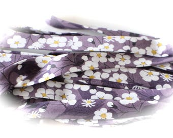 BIAS LIBERTY of LONDON Mitsi purple flowers sold by 50 cm