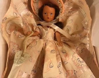 Vintage Nancy Ann Storybook doll/ painted bisque