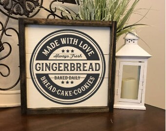 Gingerbread Bakery Sign,Gingerbread Decor,Christmas Decorations,Magnolia Inspired,Christmas Decor,Christmas Signs,Farmhouse Christmas Sign