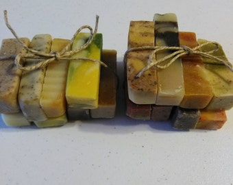 Soap Sampler/Soap Sample Set/17 1 oz Organic Soaps/Natural Soap/Essential Oil Soap/Handmade Soap/Guest Soap/Travel Soap/Cold Process Soap