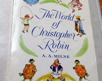 The World of Christopher Robin by AA Milne.  1958 copyright. soft cover, 234 pages, expected wear