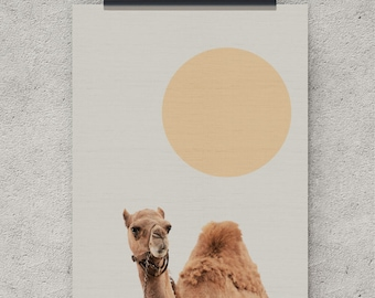 Digital Download, Camel, Animal, Digital Print, Instant Download, Large Wall Print, Safari Nursery, Prints, Safari Animals, Baby Animal, Art
