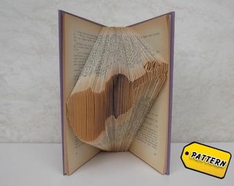 Folded Book Art Pattern Violin/ Musical Instrument / Boyfriend Gift / Girlfriend Gift / Anniversary /Musician / Handmade / Tutorial /Teacher