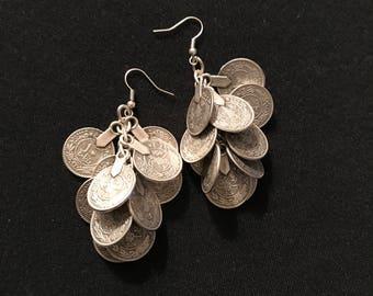 Dangle coin earrings