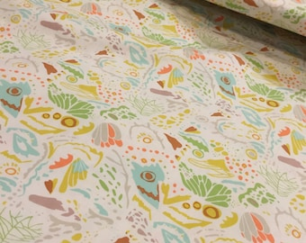 BONNIE CHRISTINE MIMICRY 1 yard 11 inches 47 inches total continuous Fabric in Beryl for Art Gallery Fabrics  Winged Collection
