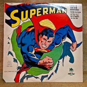 Peter Pan Presents - SUPERMAN...Listen to Four New Adventures - 1977 Vintage Vinyl Record Album