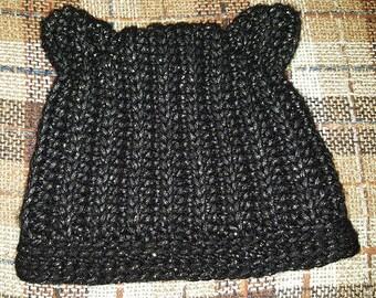 Black Kitty Hat