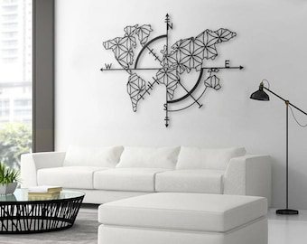 World map decor etsy map of life metal world map metal wall decor metal wall art gumiabroncs Image collections