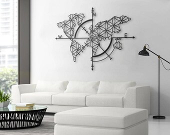 Nice Map Of Life   Metal World Map, Metal Wall Decor, Metal Wall Art, Steel  World Map, World Map Interior, Housewarming Gift