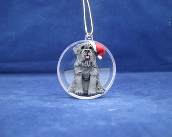 One of a Kind Neapolitan Mastiff Christmas Ornament