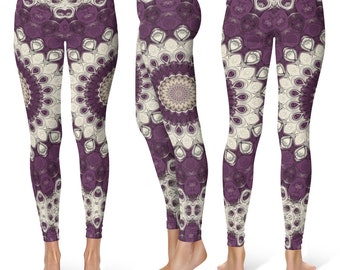 Bold Leggings Yoga Pants, Big Printed Yoga Tights for Women, Festival Clothing