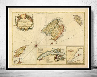 Map of mallorca Etsy