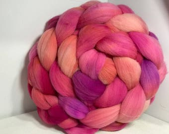 Spinning Fiber Rambouillet - 5oz - Rose Apricot Jelly 2