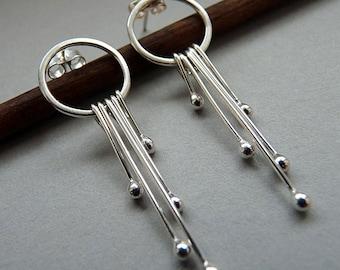 Sterling silver earrings - Silver studs - Silver post earrings - Sterling silver post - Handcrafted jewellery - Silver jewelry
