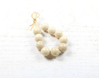 10 fossil shell beads 10 mm LBP00139