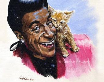 Cat and Kitten ~ Red Dwarf A4 Art Print (29.7 x 21cm)