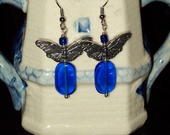Cobalt Blue Butterfly Earrings