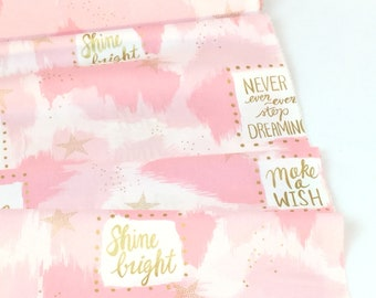 You Are Magic Pink Color  ~ Magic Metallic Collection ~ Designed by Sarah Jane for Michael Miller Fabrics