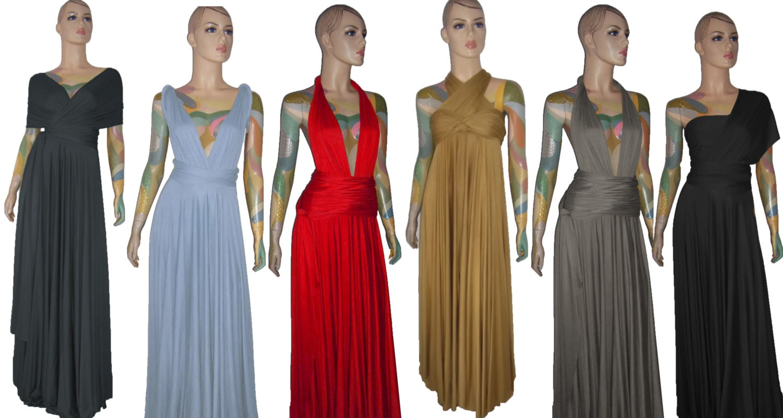 Convertible dress Prom maxi bridesmaid infinity long